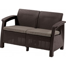 Диван CORFU LOVE SEAT (коричневый)