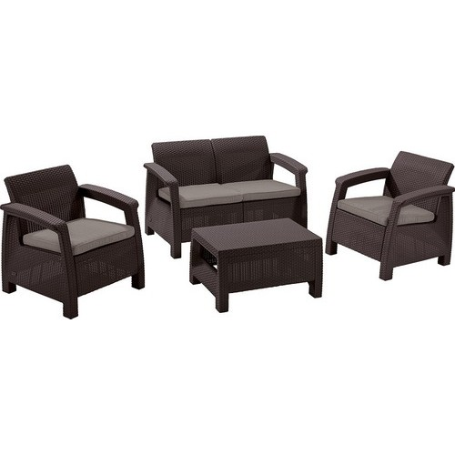 Комплект мебели CORFU SET 2 (коричневый)