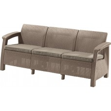 Диван CORFU TRIPLE LOVE SEAT MAX (капучино)