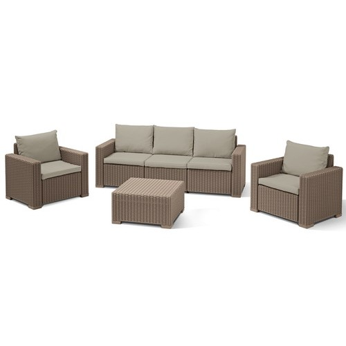 Комплект мебели CALIFORNIA 3 SEATER SET (капучино)