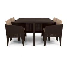 Комплект мебели COLUMBIA SET 5 PCS (коричневый)