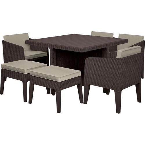 Комплект мебели COLUMBIA SET 7 PCS (коричневый)