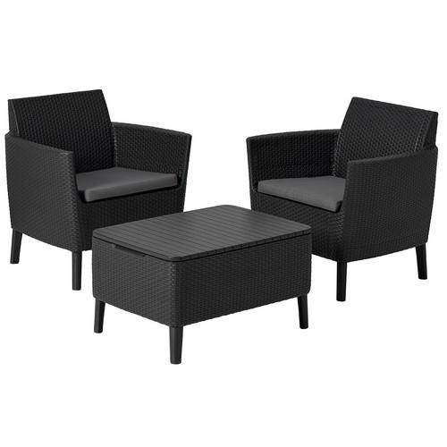 Комплект мебели SALEMO BALCONY SET (графит)