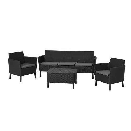Комплект мебели SALEMO 3 SEATER SET (графит)
