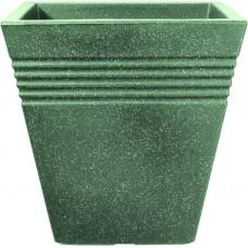 Кашпо PIAZZA SQUARE PLANTER 34cm (мраморный зеленый)