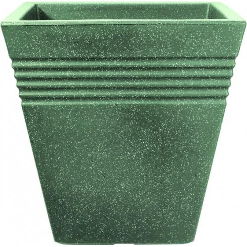 Кашпо PIAZZA SQUARE PLANTER 40cm (мраморный зеленый)