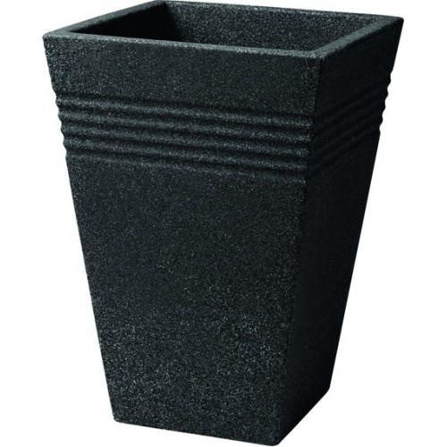 Кашпо PIAZZA SQUARE TALL PLANTER 35cm (гранит)