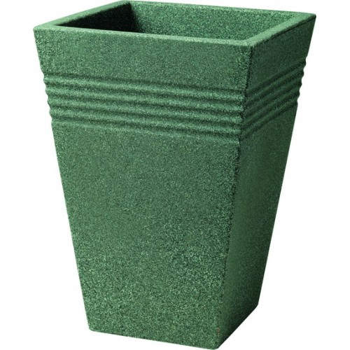 Кашпо PIAZZA SQUARE TALL PLANTER 35cm (мраморный зеленый)