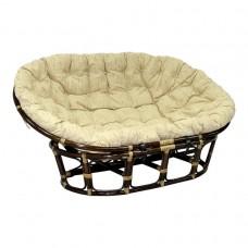 Кресло MAMASAN (подушка, рогожка, ремни) Браун