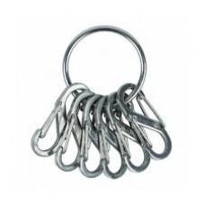 Брелок для ключей Nite Ize Key Ring с метал. карабинами, стальной