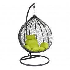 Кресло подвесное Z-12 (black/green) из искусственного ротанга