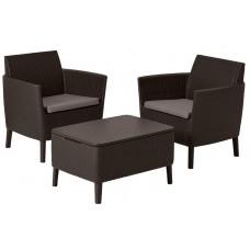 Комплект мебели SALEMO BALCONY SET (коричневый)