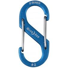 Карабин Nite Ize S-Biner Carabiner, алюминиевый, размер 2, синий