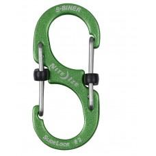 Карабин Nite Ize S-Biner Carabiner, алюминиевый, размер 2, зелёный