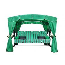 Качели садовые ЭДЕМ ЛЮКС (зеленые) 4-местные