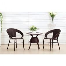 Комплект обеденный BISTRO WICKER (стол, 2 кресла), черный