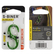 Карабин Nite Ize S-Biner SlideLock, алюминиевый, размер 2, зелёный