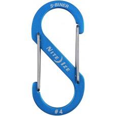 Карабин Nite Ize S-Biner Carabiner, алюминиевый, размер 4, синий