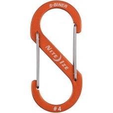 Карабин Nite Ize S-Biner Carabiner, алюминиевый, размер 4, оранжевый